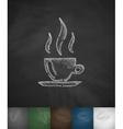 coffee icon Hand drawn vector image vector image