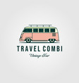 combi van car vintage logo design vector image