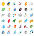 computer icons set isometric style vector image vector image