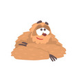 cute cartoon smiling sloth character lying funny vector image vector image