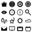 Design useful web icons on white background vector image vector image