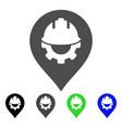 development helmet marker flat icon vector image vector image