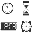 Different clock types vector image vector image