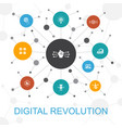 digital revolution trendy web concept with icons vector image vector image