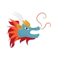 Dragon head mascot mythology chinese monster vector image vector image