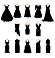 dresses silhouette set vector image vector image