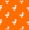 duck spring see saw pattern seamless vector image vector image