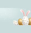 easter painted golden eggs realistic vector image vector image