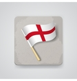 England flag icon vector image vector image