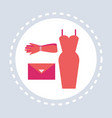 female fashion clothes and accessories shopping vector image vector image