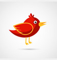 fire red bird icon vector image vector image