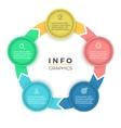 Five steps infographics design element vector image vector image