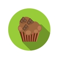 Flat Design Concept Cupcake With Long Shadow vector image vector image