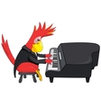 Funny Parrot Pianist vector image vector image