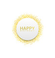 golden confetti label vector image vector image