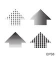 Halftone dots arrow vector image