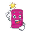have an idea curlers hair in shape cartoon funny vector image vector image
