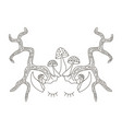 horns with eyes and ears vector image vector image