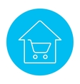 House shopping line icon vector image