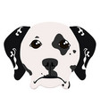 isolated dalmatian avatar vector image vector image