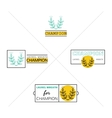 Laurel wreath success icon emblems labels Set vector image vector image