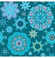 Mandala seamless pattern vector image