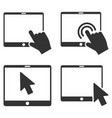 mobile tab pointer flat icon set vector image vector image
