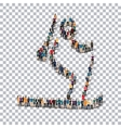 people sports biathlon vector image vector image