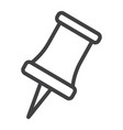 push pin line icon web and mobile reminder vector image