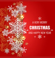 red christmas and new year greeting card vector image