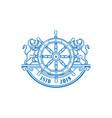 retro vintage lion anchor boat ship wheel marine vector image vector image