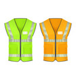 safety vest with reflective strips mockup vector image