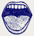 Screaming mouth vector | Price: 1 Credit (USD $1)