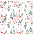 seamless floral pattern elegant flower texture vector image vector image