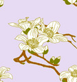 seamless wallpaper with orchid flowers vector image vector image