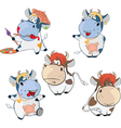 Set Cartoon Cute Cow Cartoon vector image vector image