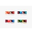 Set of abstract square interface menu navigation vector image vector image