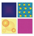 set of memphis backgrounds vector image vector image