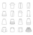 set of skirts vector image vector image
