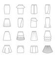 set skirts vector image