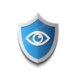 shield eye icon blue on white background vector image vector image