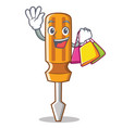 shopping screwdriver character cartoon style vector image vector image