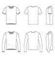 Simple outline drawing of a mens blank t-shirt and vector image
