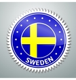 Swedish flag label vector image