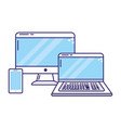 technology devices cartoon vector image