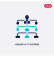 two color hierarchy structure icon from business vector image vector image