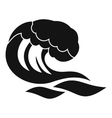 Wave icon simple style