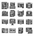 web development icons set gray color icons vector image vector image
