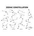 zodiac constellation aries taurus gemini cancer vector image