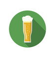 glass of beer on a colorful background vector image
